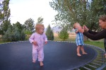 Sammie and Nick's little girl jumping